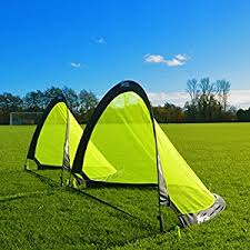 Backyard Soccer Goals For Sale Amazon Com Forza Flash Pop Up Soccer Goals Pair Available In