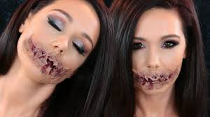turned zombie zombie sfx mouth halloween makeup tutorial