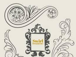 calligraphy retro swirl ornaments free vector free vectors ui