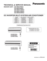 panasonic inverter air conditioner service manual air