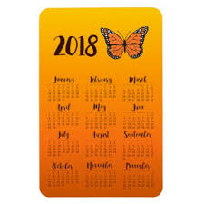 orange ombre monarch butterfly 2018 calendar magnet home gifts