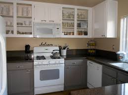 How To Faux Paint Kitchen Cabinets Painting Kitchen Cabinets Cream White Pendants Rectangle Brown
