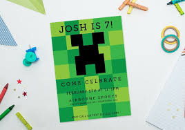 minecraft birthday invitations ideas for minecraft birthday invitations templates invitations