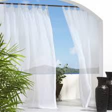 Sheer Curtains Tab Top Outdoor Decor Escape Velcro Tab Top Outdoor Curtain Panel Hayneedle