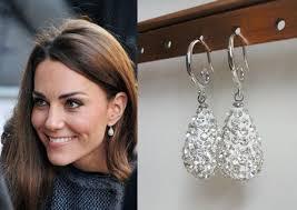 kate middleton earrings kate middleton egg engagement earrings by tudorshoppe