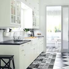 vinyle cuisine tapis style carreau de ciment photo ambiance cuisine tapis carreaux