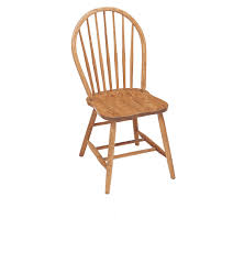 Oak Spindle Back Dining Chairs Amish Seven Spindle Bowback Dining Chair