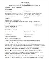 project management resume samples free cover letter marketing