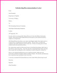 University Recommendation Letter Template by 10 Recommendation Letter For Scholarship Sample