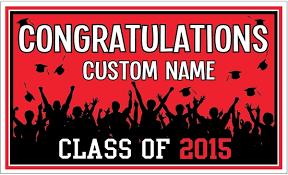 congratulations graduation banner custom birthday banners birthday1 color las vegas black 3