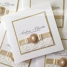 Lace Wedding Invitations Gold Lace Wedding Invitations For Andrew U0026 Christie