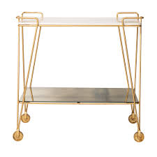gold luxe drinks trolley oliver bonas