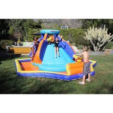 Best Backyard Water Slides Sportspower Outdoor Battle Ridge Inflatable Water Slide Walmart Com