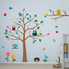 amazon com babyfad owl turquoise 10 piece baby crib bedding set timber artbox cheerful nursery wall decals with owls tree best decor for kids room