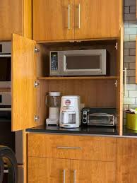 diy kitchen cabinet refacing ideas tucking small appliances into cabinets for organize a small