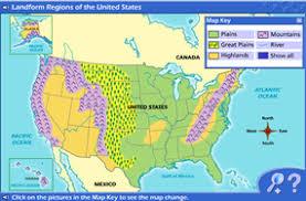 map us landforms dafi1637 usa map with states and landforms