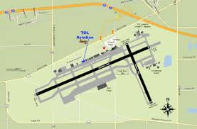 Map Toledo Ohio by Tol Aviation Inc Directions