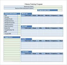 training plan template training plan template 16 download free