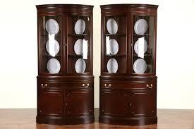 mahogany corner bookcase search showroom harp gallery antiques showroom