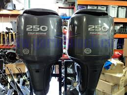 used pair of 2006 yamaha f250 four stroke outboards for sale