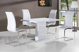 white high gloss table new stunning maxi white high gloss dining table dining chairs ebay