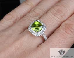 peridot engagement rings cushion cut peridot diamond pave halo milgrain engagement ring