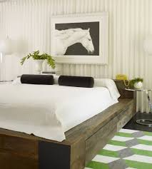 asian bed frame bedroom with tray ceiling decorative pillows