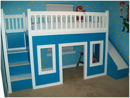 blue ikea bedroom and white wall come with cozy extendable kid bed
