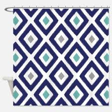 gray chevron shower curtains gray chevron fabric shower curtain