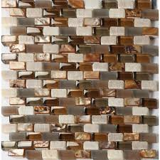 Stone Mosaic Tile Kitchen Backsplash by Glass And Stone Tile Backsplash
