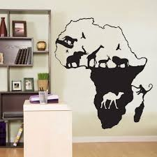 aliexpress com buy african wall decal africa animals safari aliexpress com buy african wall decal africa animals safari elephant giraffe mural wall sticker animal map wall sticker bedroom home decoration from