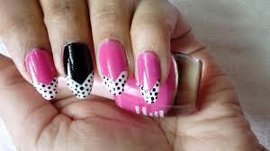 nail art tutorial diy easy pink nail art design youtube