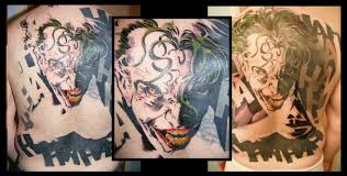 batman fan creates the ultimate joker tattoo that covers entire back