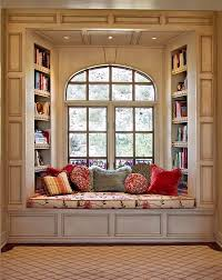 wow these built ins are some of the most beautiful i ve seen the window seat with arched window and built in bookshelves behind have the bookshelves facing the room make the window seat more like a chaise