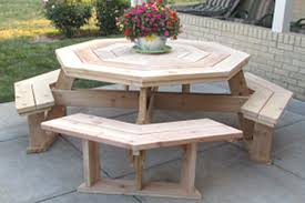 Patio Dining Set With Bench Diy Outdoor Dining Table Projects The Garden Glove
