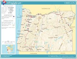 map of oregon state united states geography for oregon