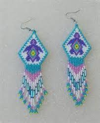 native american beaded earring ideas bing images beadwork