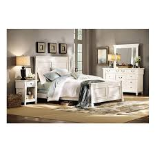 Home Decorators Collection Bridgeport Antique White King Bed Frame - Home decorators bedroom