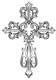 drawings of crosses with hearts clip art library