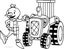bob builder spud tractor coloring wecoloringpage