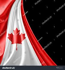 canada flag silk copyspace your text stock illustration 533563534