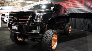cadillac escalade 2017 lifted new 2018 cadillac escalade custom lifted suspension huge gold
