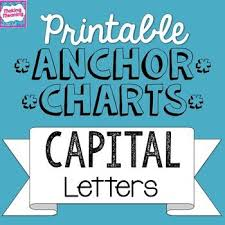 free printable anchor charts for capital letters capitalization