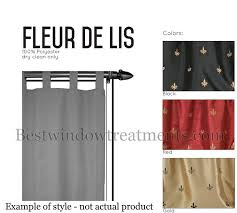Fleur De Lis Curtains Custom 100 Wide Tab Top Curtain Panel Fleur De Lis Www