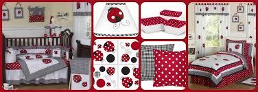 Black And White Crib Bedding Sets And White Polka Dot Ladybug Bedding