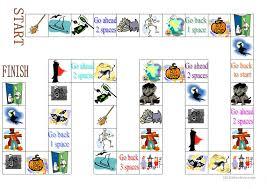 7 free esl halloween board game worksheets