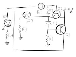 Led Blinking Circuit Diagram Blinking Led Circuit Vestigial Blog