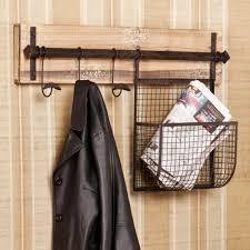 Entry Shelf Wood And Metal Entryway Wall Storage World Market