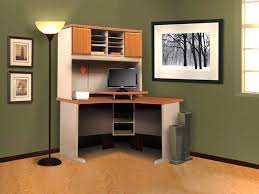 living magnifcent small corner desk with hutch cherry wood