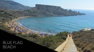 Blue Flag Beach Blue Flag Beach Malta U0027s Beautiful Għajn Tuffieħa Youtube